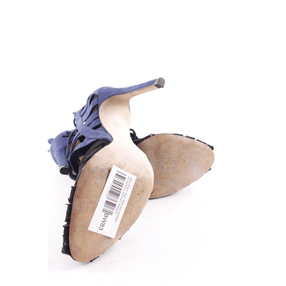 zara basic high heel sandal dark blue black elegant women s size uk 3 ebay. Black Bedroom Furniture Sets. Home Design Ideas