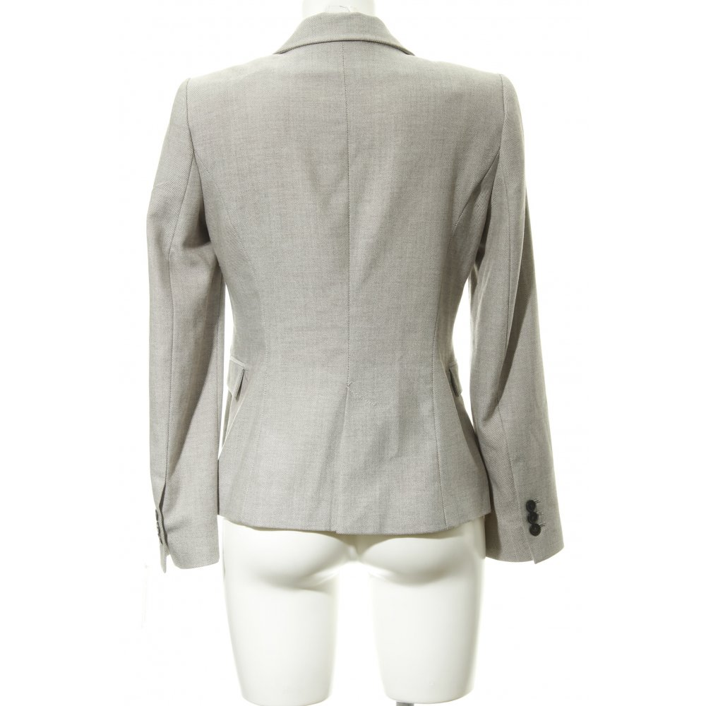Dettagli su ZARA BASIC Blazer in jersey beige marrone scuro stampa integrale Donna