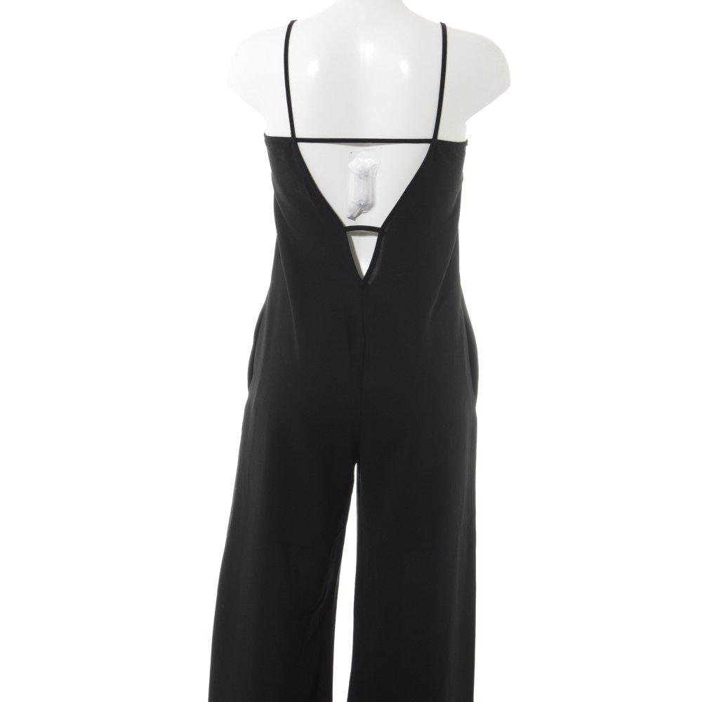 Detalles de ZARA BASIC Mono negro estilo fiesta Mujeres Talla EU 34 Pantalón