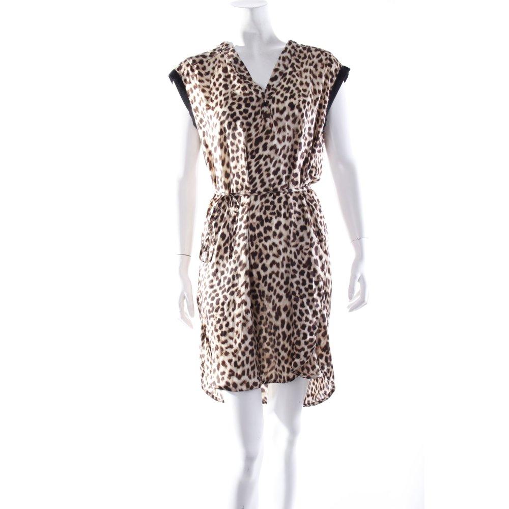 zara basic kleid animalprint damen gr de 36 schwarz dress shirtkleid ebay. Black Bedroom Furniture Sets. Home Design Ideas