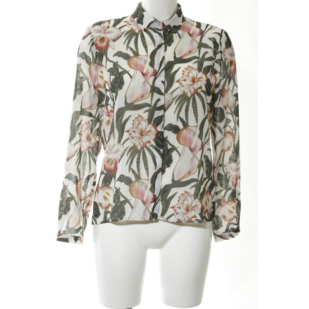 diseño superior diversificado en envases nueva precios más bajos Detalles de ZARA BASIC Blusa de manga larga estampado floral look casual  Mujeres Talla EU 36