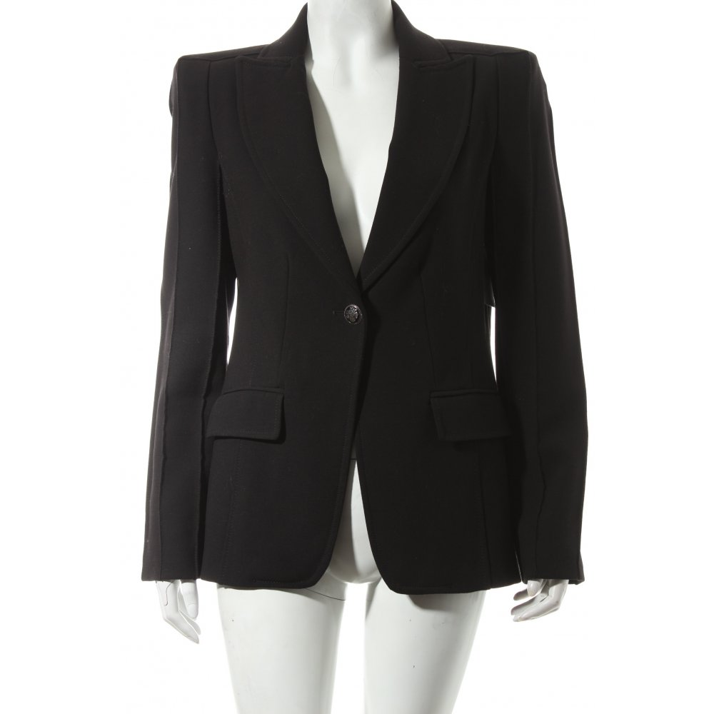 zara basic long blazer schwarz extravaganter stil damen gr de 40 long blazer ebay. Black Bedroom Furniture Sets. Home Design Ideas