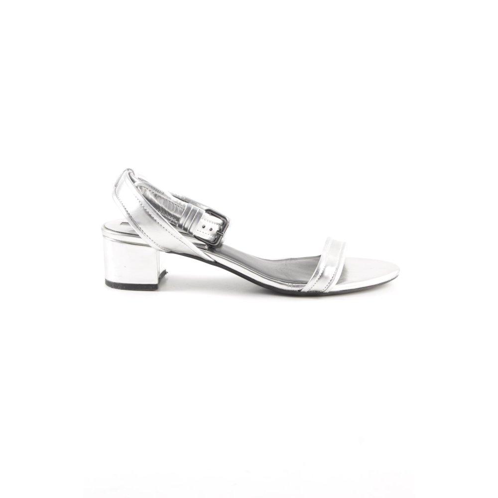 Eu Talla Plata Tacón Color Elegante Detalles Mujeres Zara De 39 Sandalias Basic Tiras zSUqVGLMp