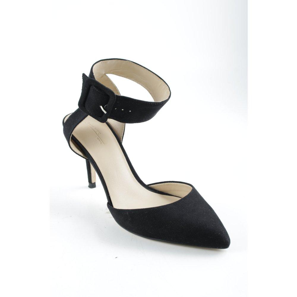 ZARA BASIC Dcollet con cinturino nero elegante Donna Taglia IT 37 Dcollet