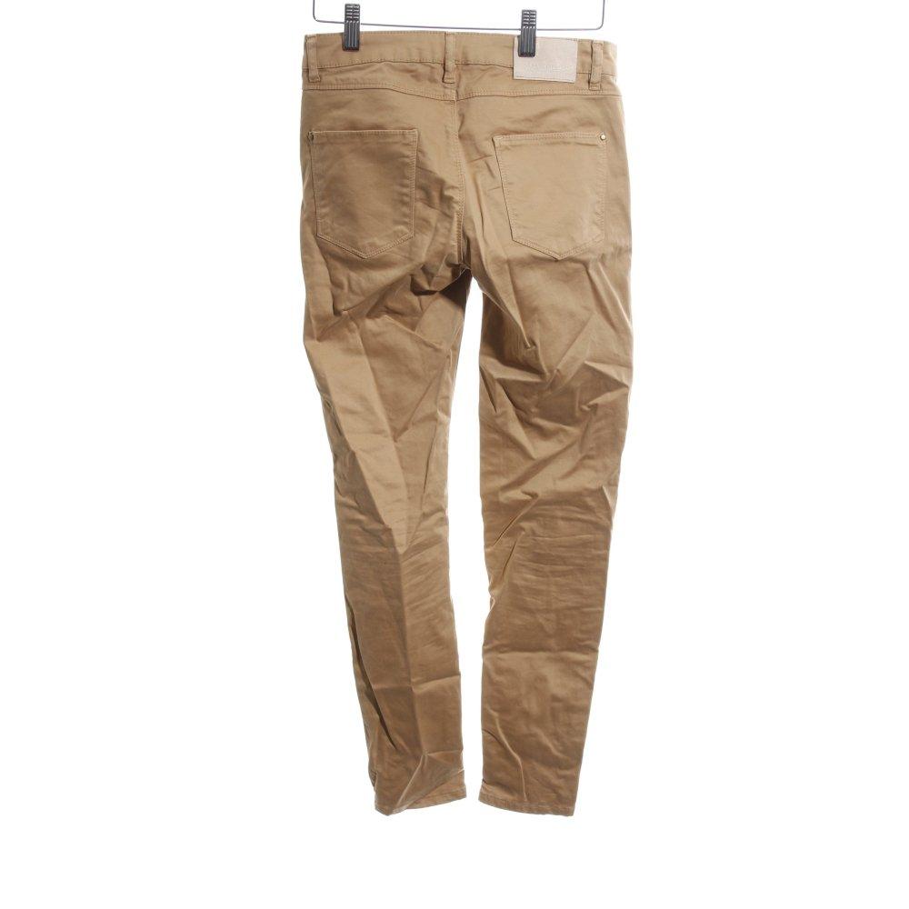 Dettagli su ZARA BASIC Pantalone a sigaretta marrone stile casual Donna Taglia IT 40