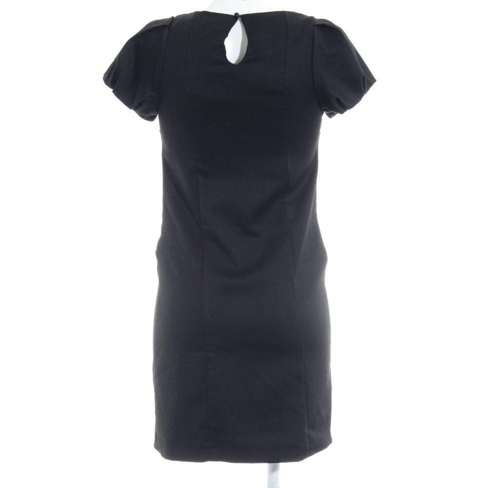 Détails sur ZARA BASIC Robe t shirt noir Dames T 36