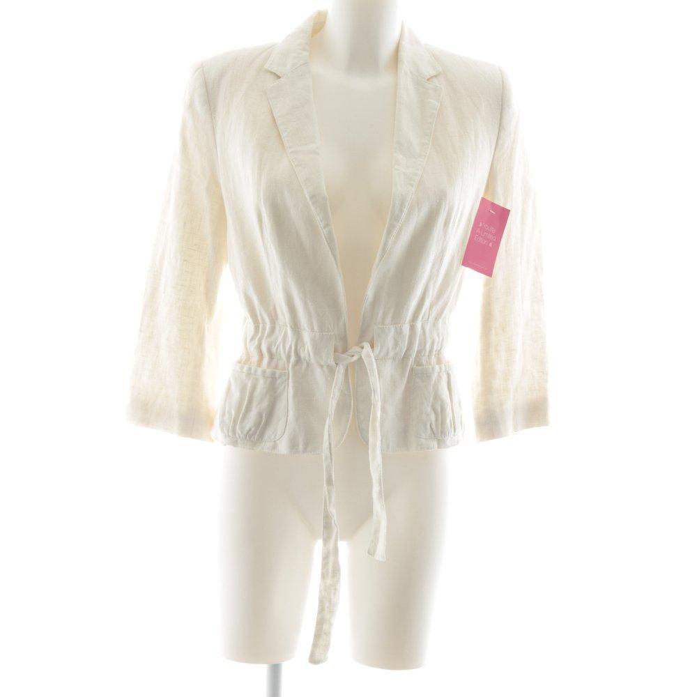 Dettagli su ZARA BASIC Blazer smoking bianco sporco stile casual Donna Taglia IT 44