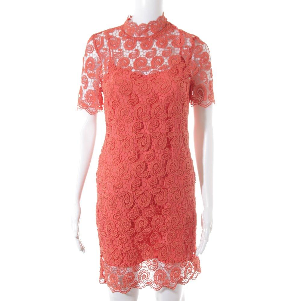 Detalles de ZARA WOMAN Blusa de encaje burdeos carmín estampado floral look casual Mujeres