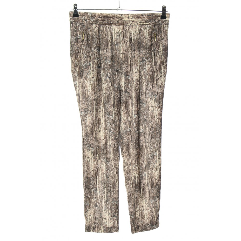 Dettagli su ZARA BASIC Pantalone jersey bronzo bianco sporco stile casual Donna Taglia IT 44