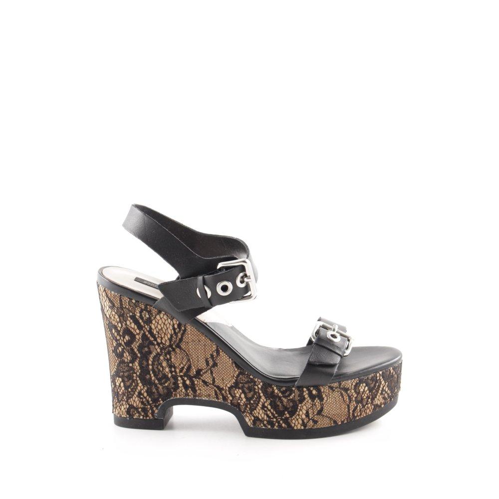 Sandalias negras con cuña Maygan de ALDO | Sandalias