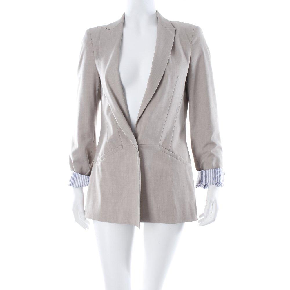 zara boyfriend blazer beige brit look damen gr de 36. Black Bedroom Furniture Sets. Home Design Ideas