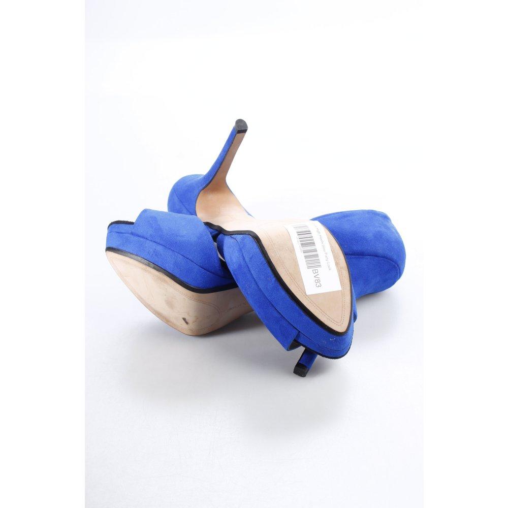 zara high heels blau party look damen gr de 41 pumps damenschuhe ebay. Black Bedroom Furniture Sets. Home Design Ideas