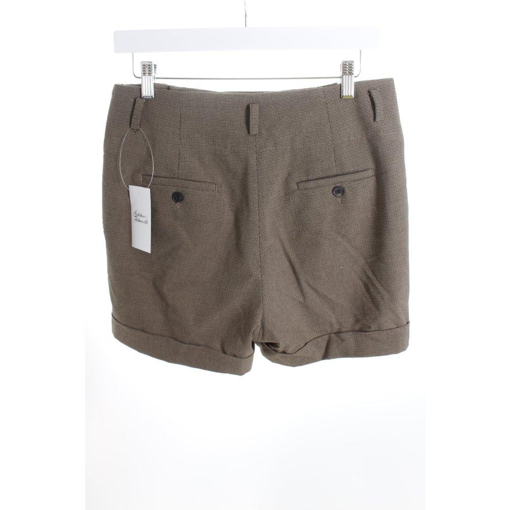 Zara high waist shorts hahnentrittmuster dandy look damen for Dandy look fa r damen