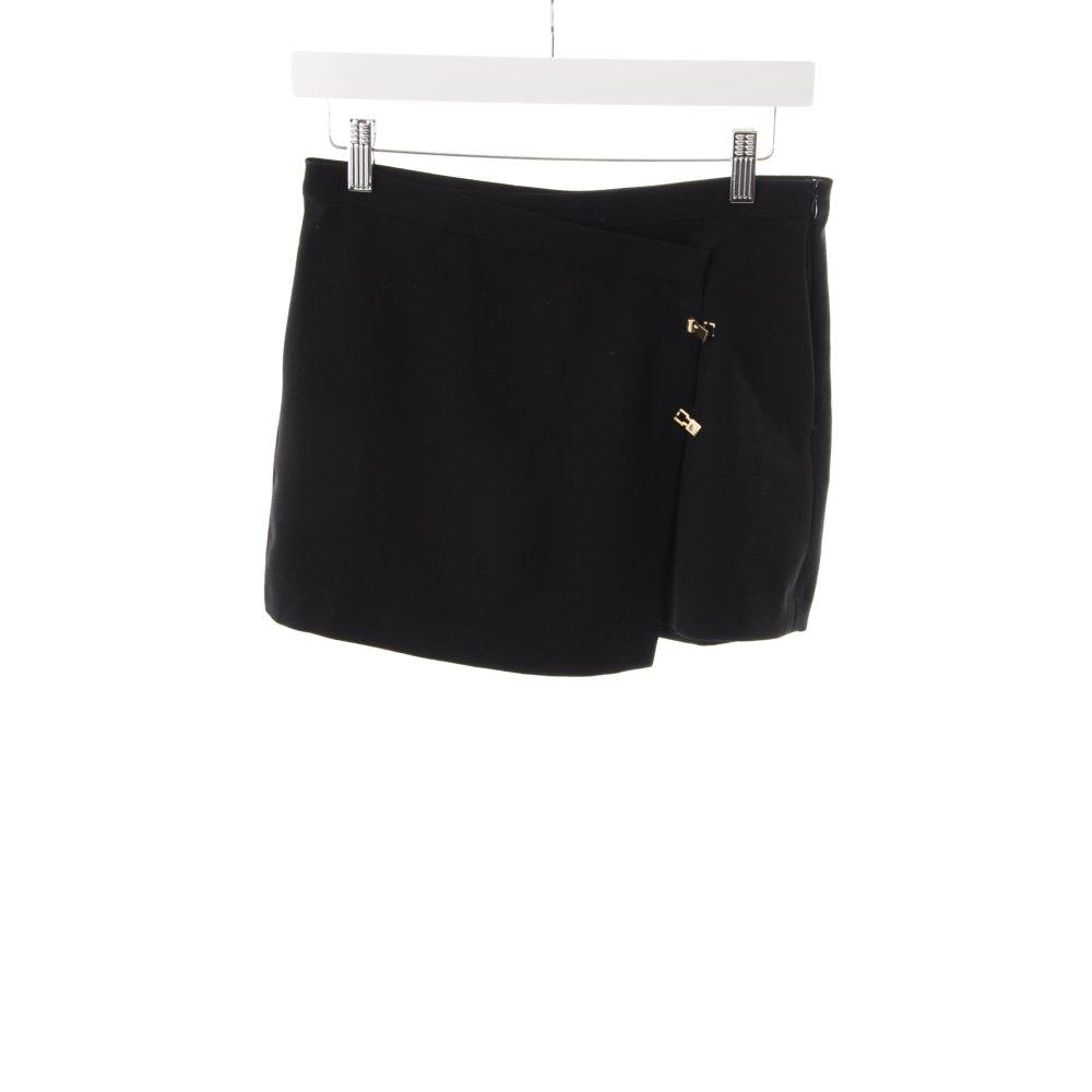 zara high waist shorts schwarz damen gr de 36 kurze hose short trousers ebay. Black Bedroom Furniture Sets. Home Design Ideas
