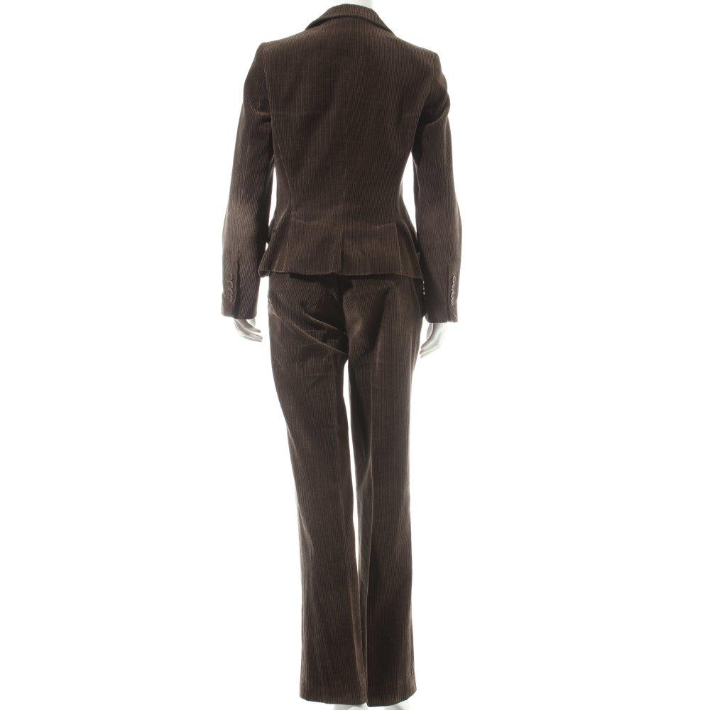 zara tailleur pantalon brun fonc style d contract dames. Black Bedroom Furniture Sets. Home Design Ideas