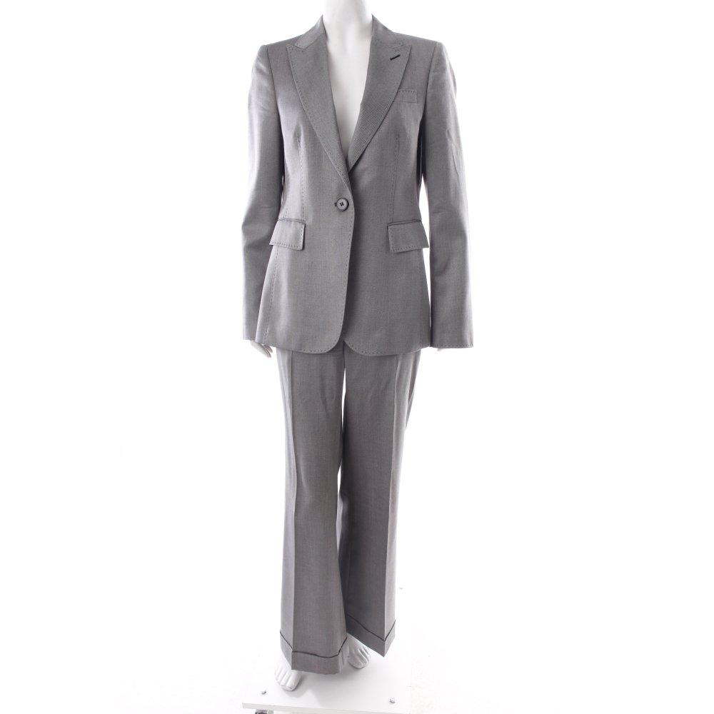 Dettagli su ZARA Tailleur pantalone grigio nero stile professionale Donna Taglia IT 42