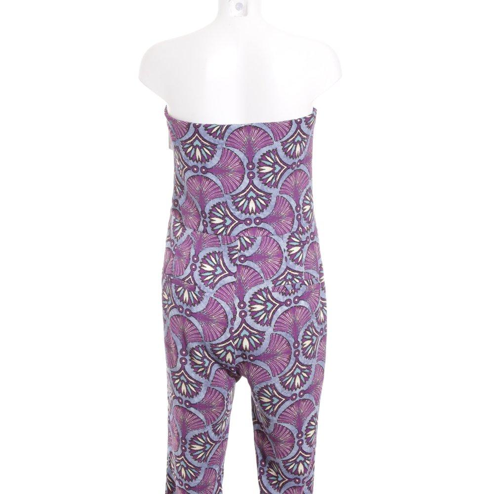 zara jumpsuit florales muster damen gr de 40 lila hose. Black Bedroom Furniture Sets. Home Design Ideas