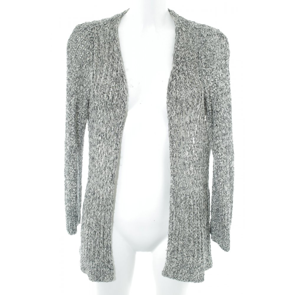 Zara Knit Chaqueta holgada blanco puro