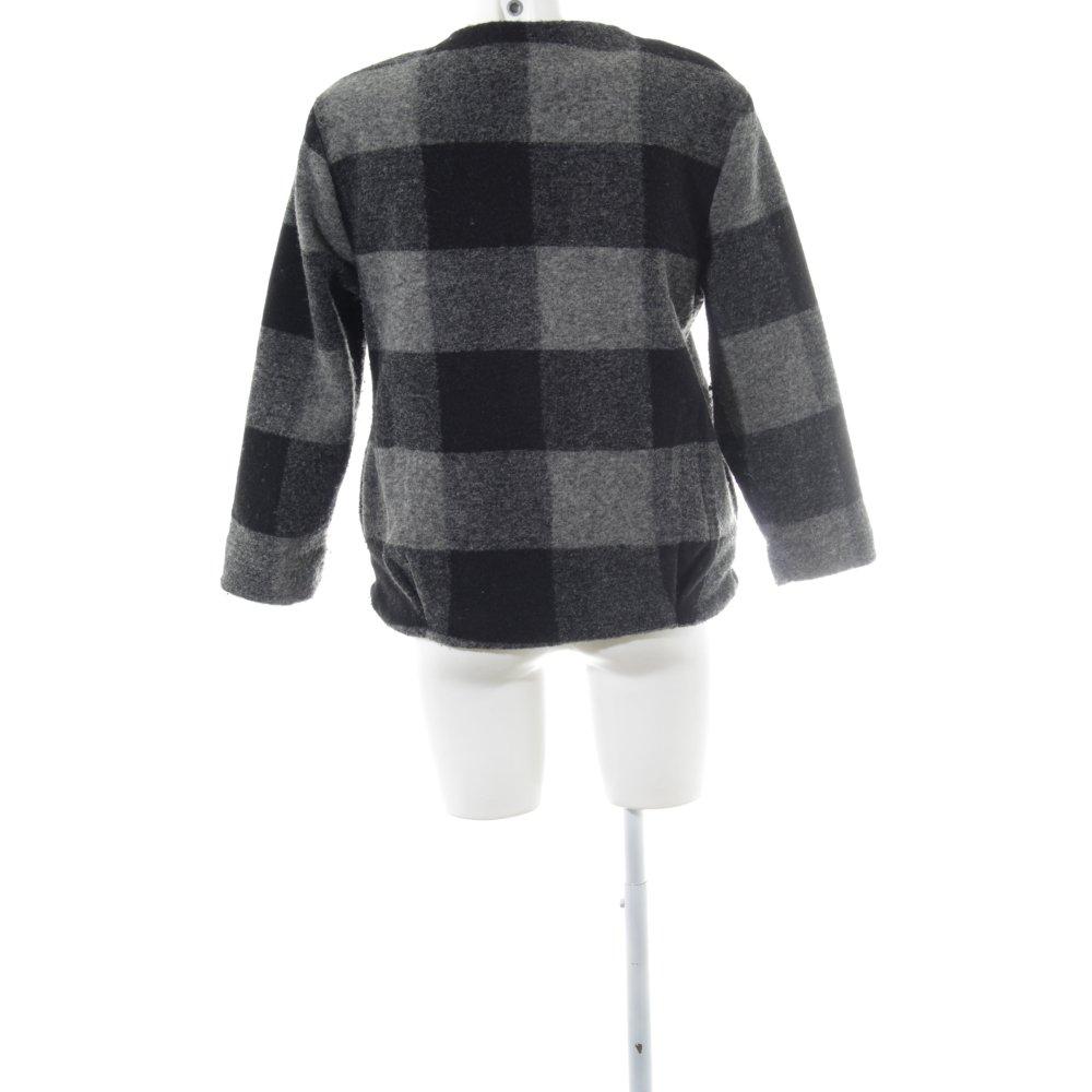 ZARA WOMAN CAPPOTTO in lana motivo a quadri stile casual