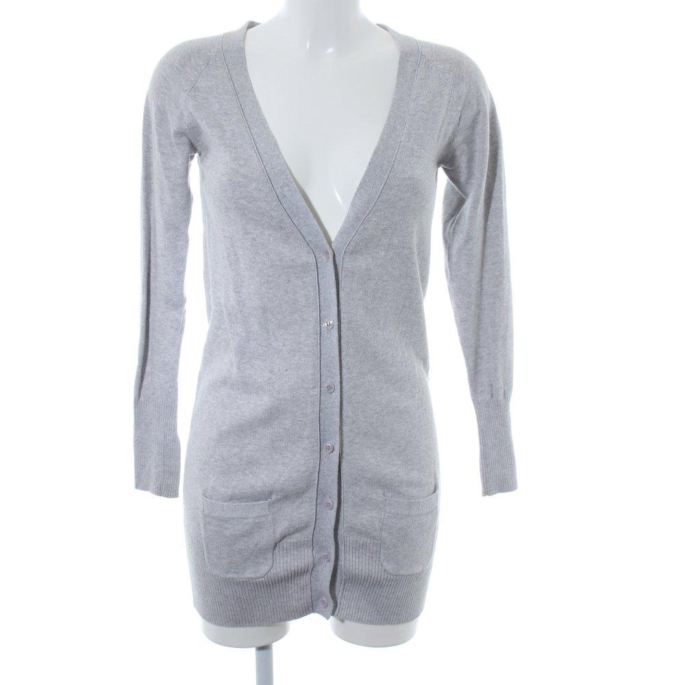 Dettagli su ZARA Cardigan grigio chiaro stile casual Donna Taglia IT 42 Giacca