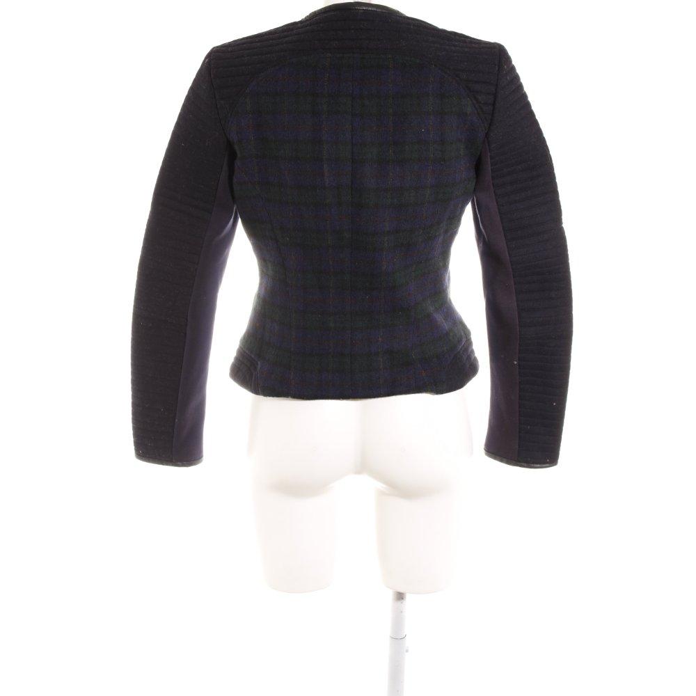 Zara Basic Giacca corta bianco nero motivo a quadri stile casual