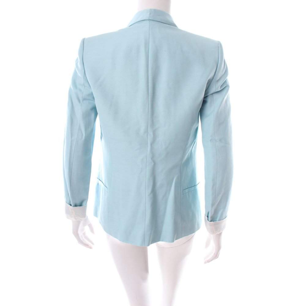 Zara long blazer hellblau klassischer stil damen gr de 34 for Klassischer stil