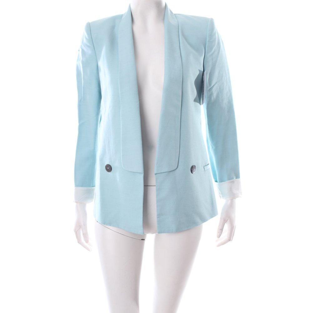 zara long blazer hellblau klassischer stil damen gr de 34 long blazer. Black Bedroom Furniture Sets. Home Design Ideas