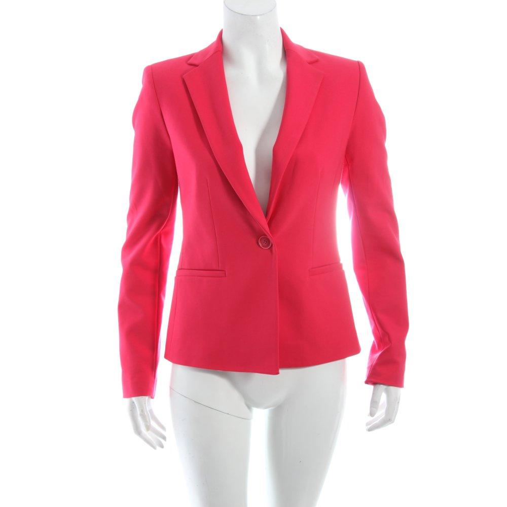Dettagli su ZARA Blazer lungo magenta stile professionale Donna Taglia IT 40