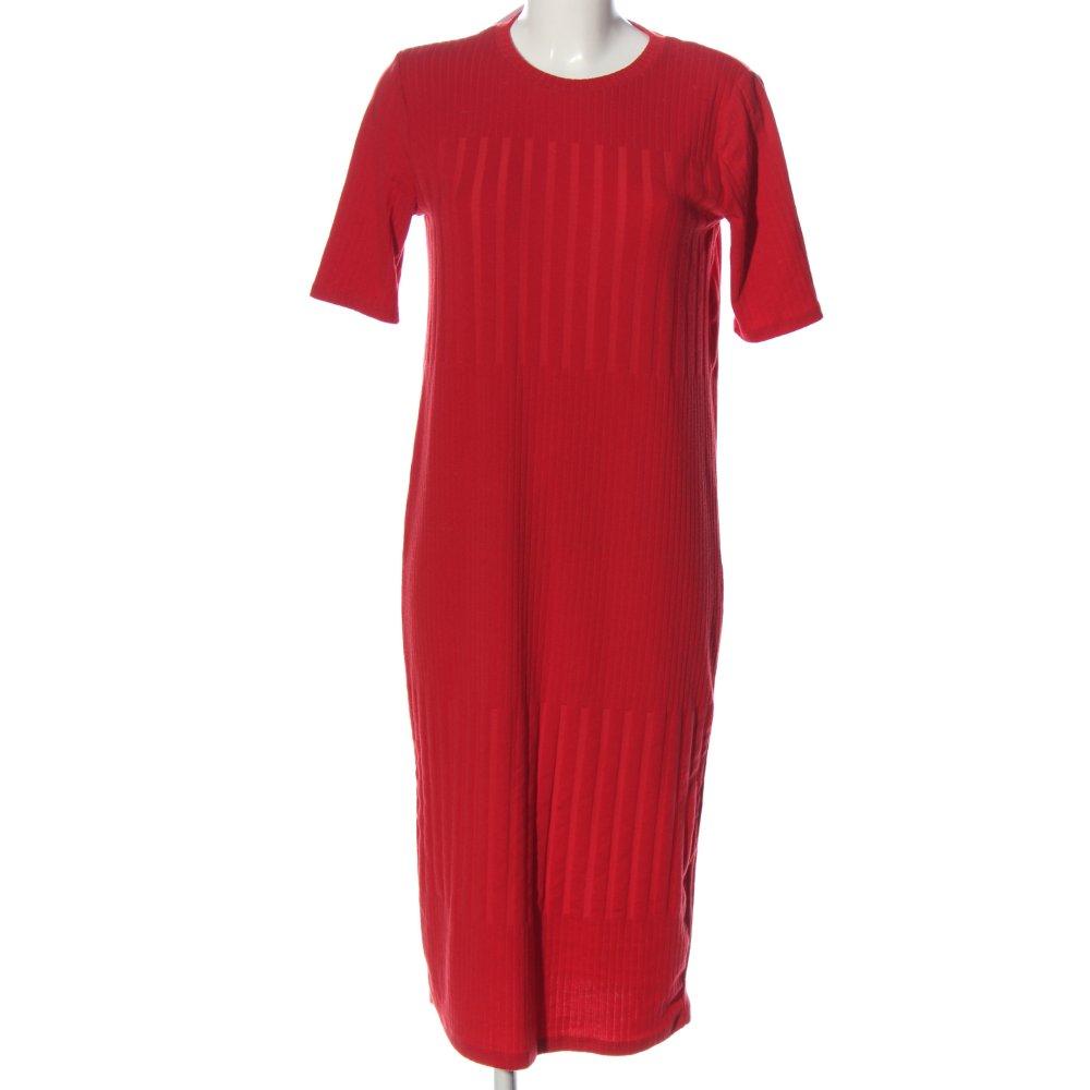 Zara Robe Mi Longue Rouge Style Decontracte Dames T 42 Ebay