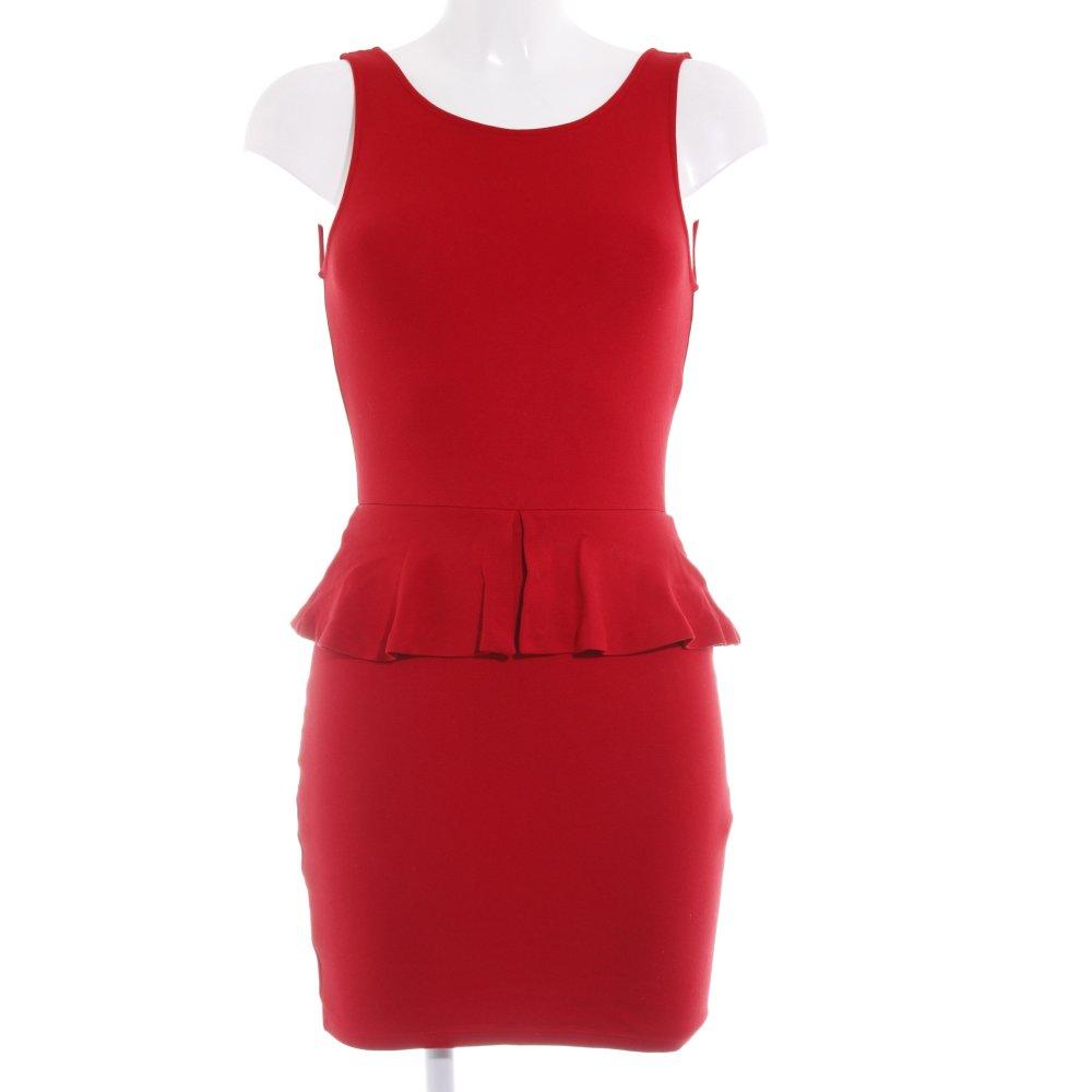 Dettagli su ZARA Mini Abito rosso stile casual Donna Taglia IT 40