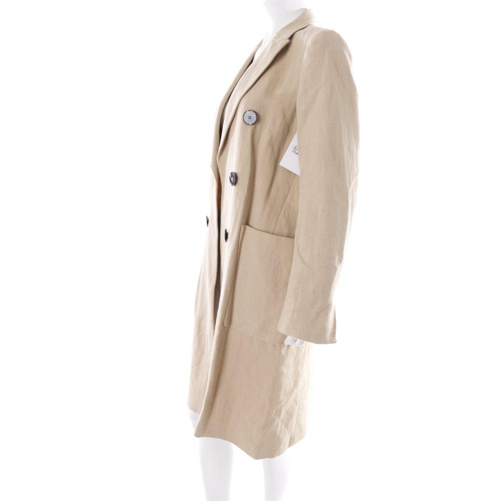 Zara oversized mantel hellbeige 40ies stil damen gr de 36 - Oversize mantel damen ...