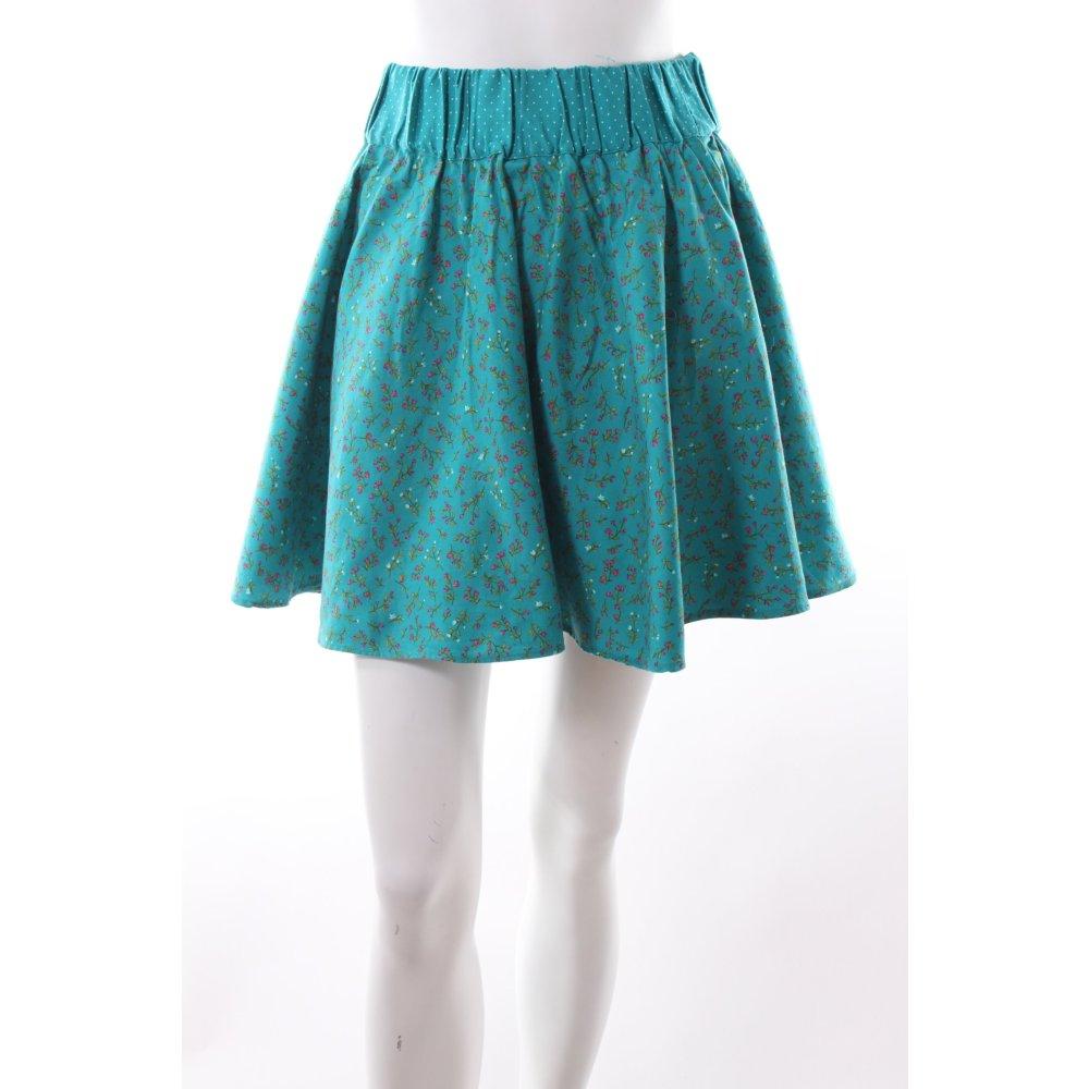 zara rock mit blumenmuster damen gr de 38 wei skirt tellerrock circle skirt ebay. Black Bedroom Furniture Sets. Home Design Ideas