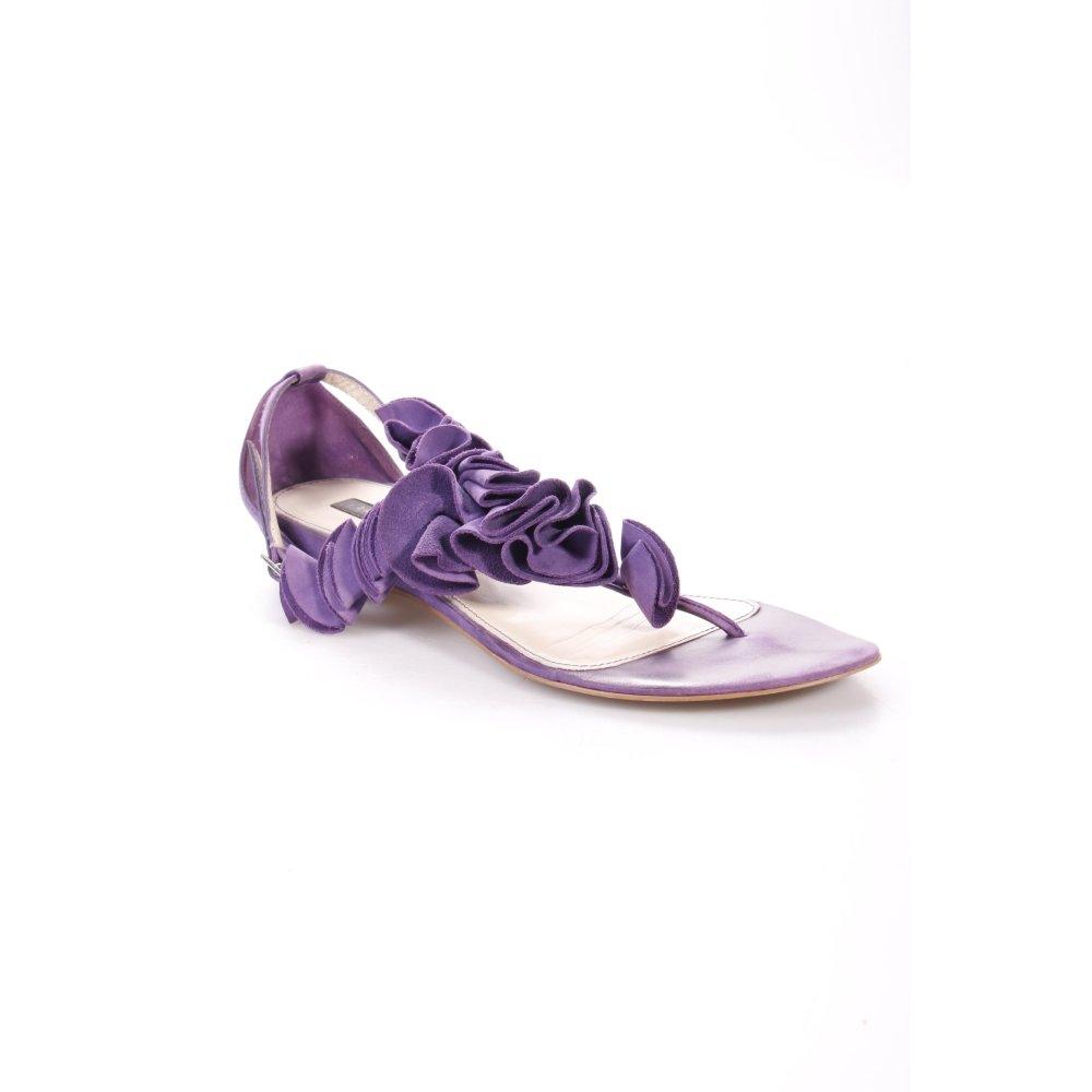 zara sandalen dunkelviolett damen gr de 40 schuhe shoes sandals damenschuhe ebay. Black Bedroom Furniture Sets. Home Design Ideas