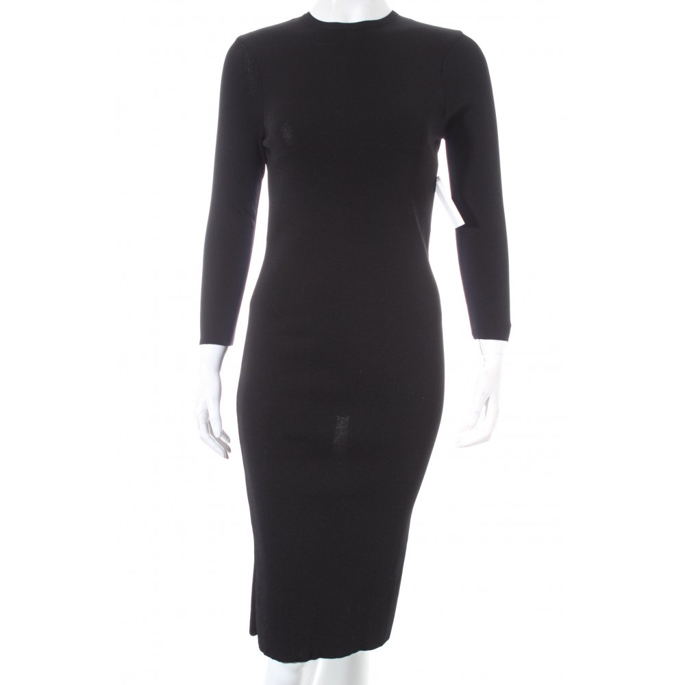 Zara Robe Tube Noir Elegant Dames T 38 Ebay