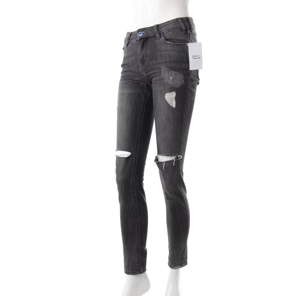 zara skinny jeans used look damen gr de 34 grau ebay. Black Bedroom Furniture Sets. Home Design Ideas