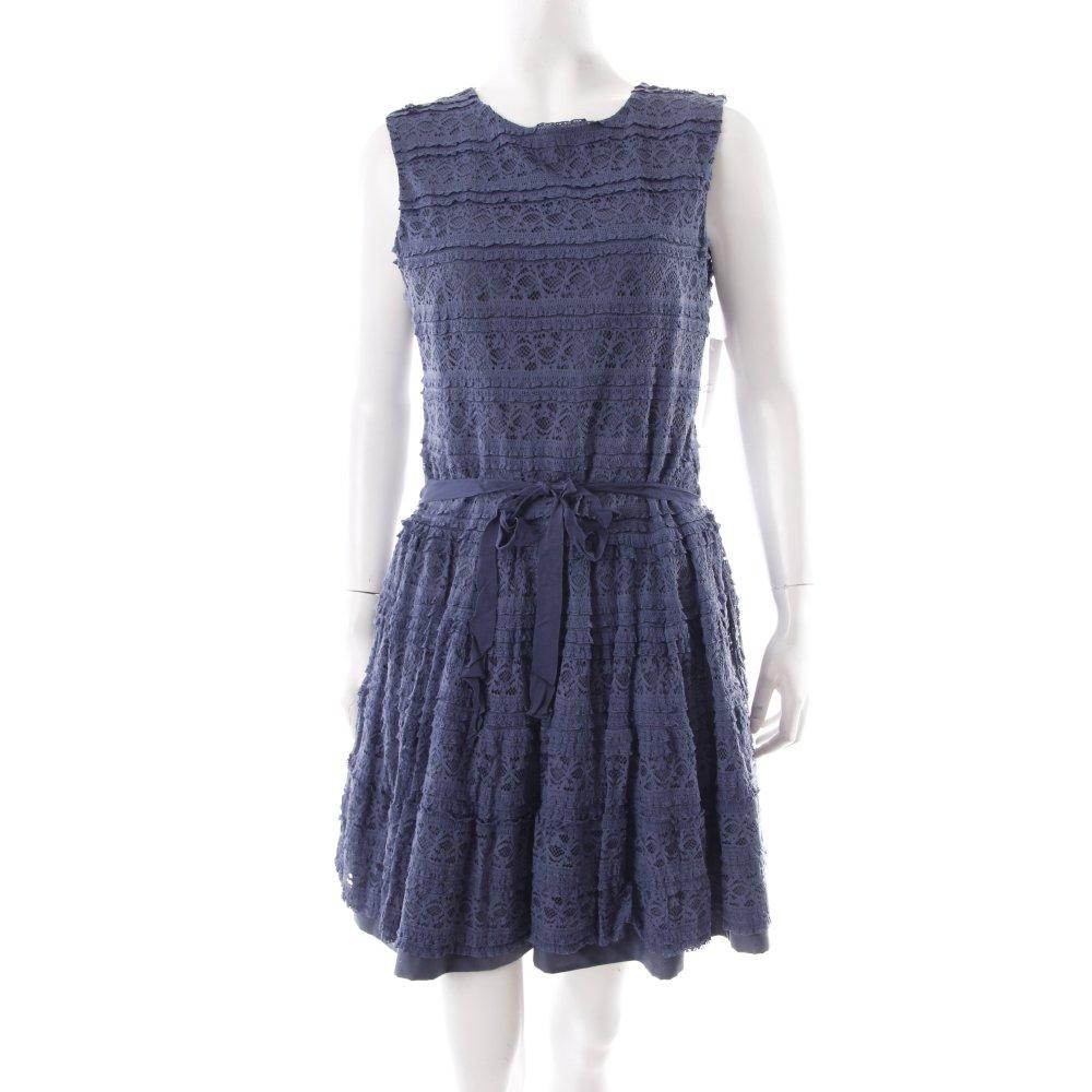 zara spitzenkleid petrol b nderverzierung damen gr de 38 kleid dress ebay. Black Bedroom Furniture Sets. Home Design Ideas