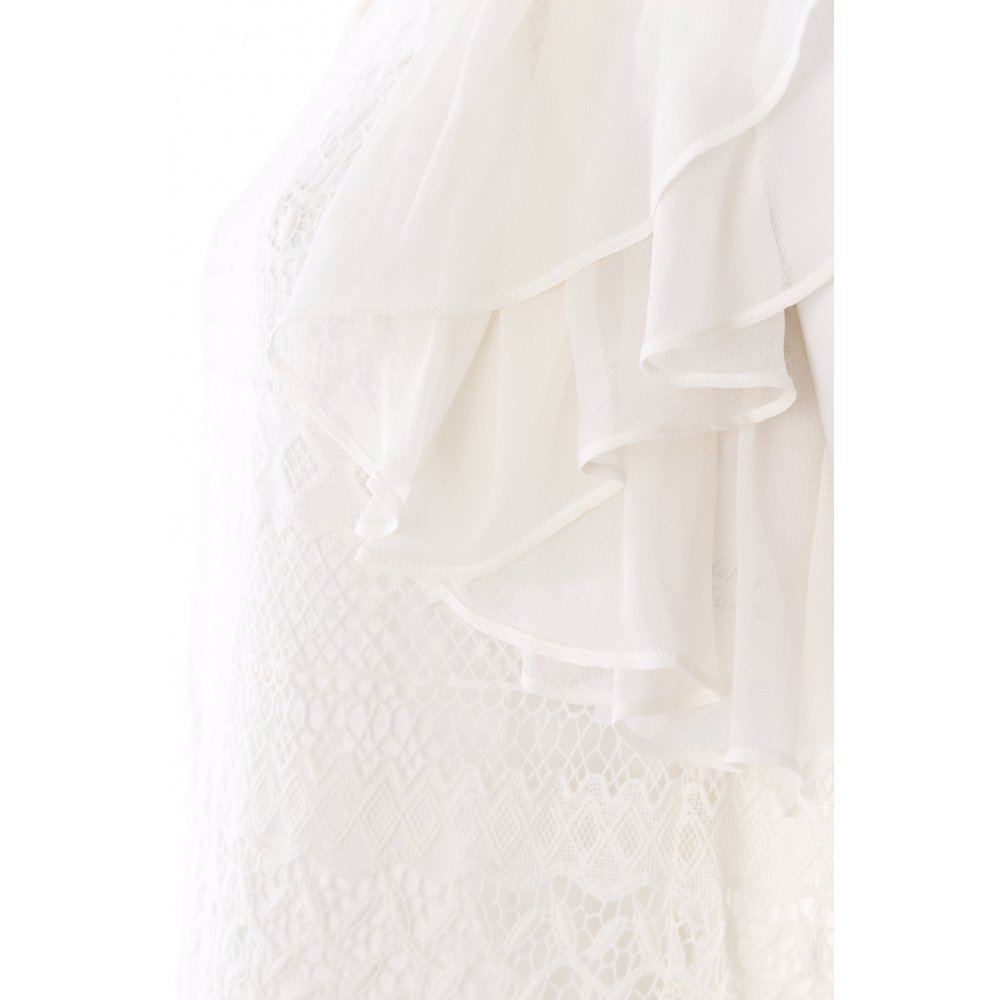 zara spitzenkleid wei romantik look damen gr de 34 wei kleid dress ebay. Black Bedroom Furniture Sets. Home Design Ideas