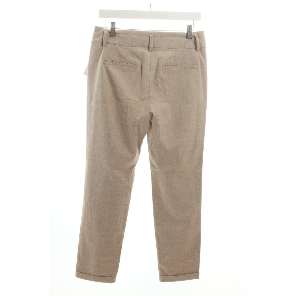 Dettagli su ZARA Pantalone jersey color cammello stile professionale Donna Taglia IT 42