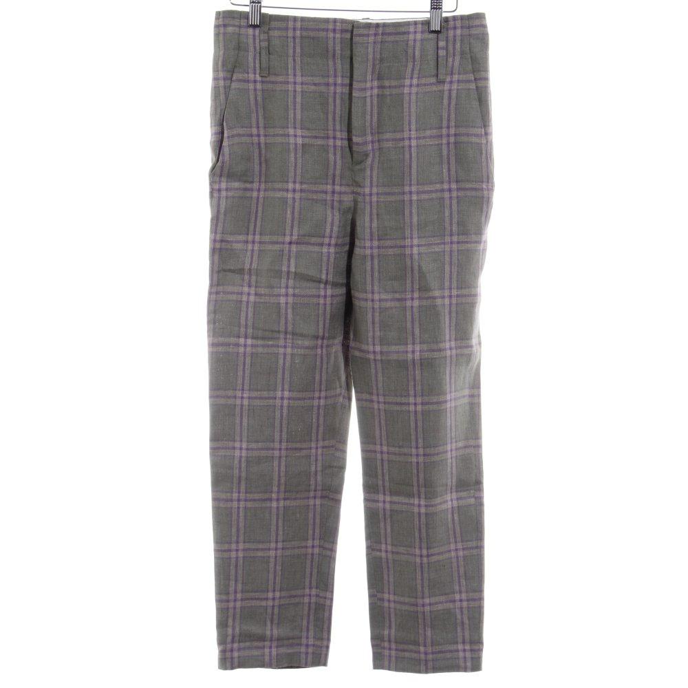 ZARA Pantalon en jersey kaki-violet foncé