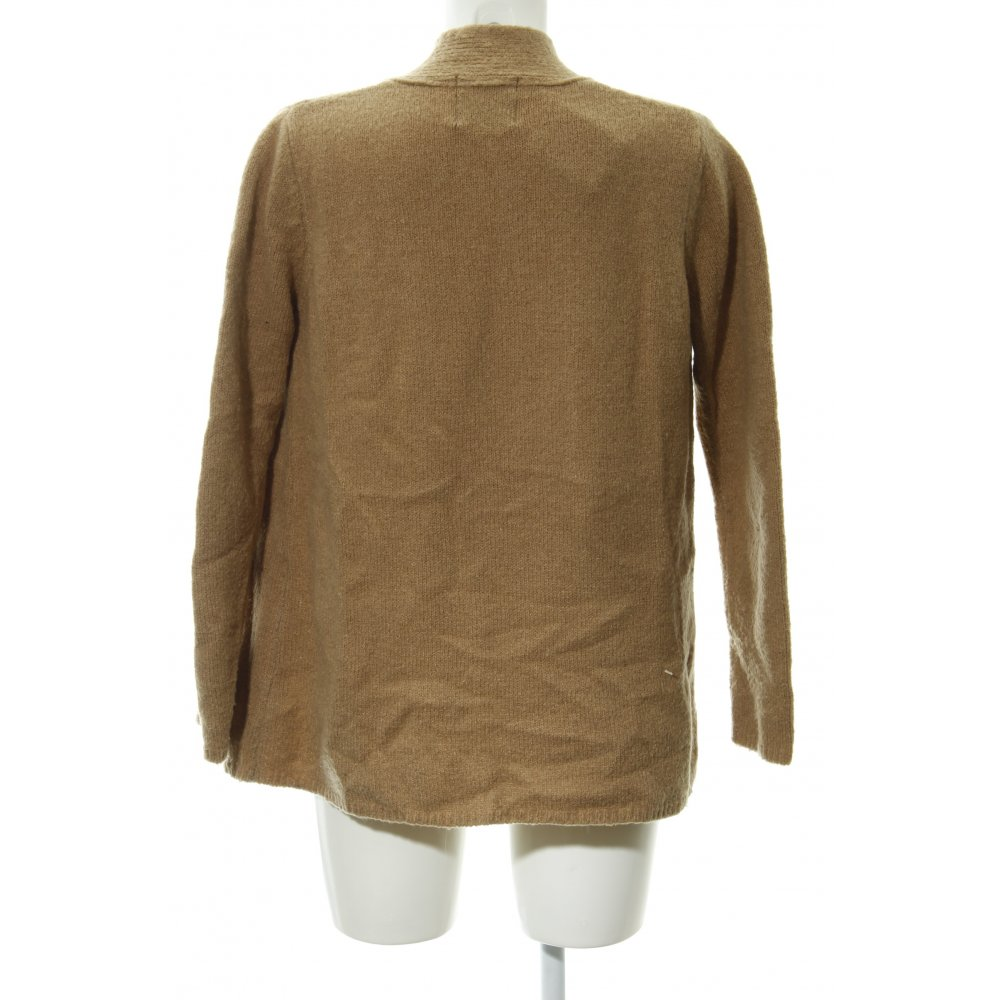 Cardigan scamosciato marrone Zara 2€