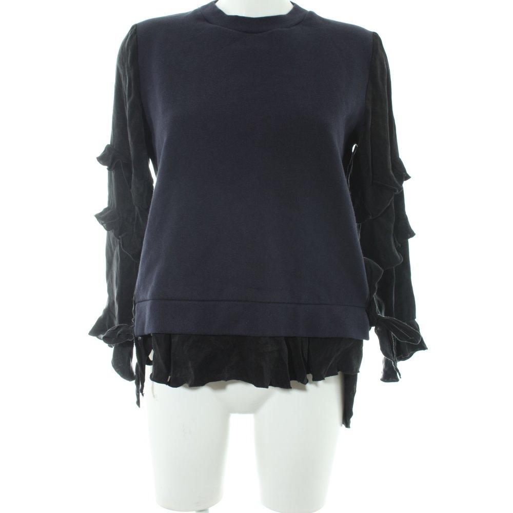 design di qualità f10c7 72d52 Dettagli su ZARA Maglione lavorato a maglia nero-blu scuro stile casual  Donna Taglia IT 40