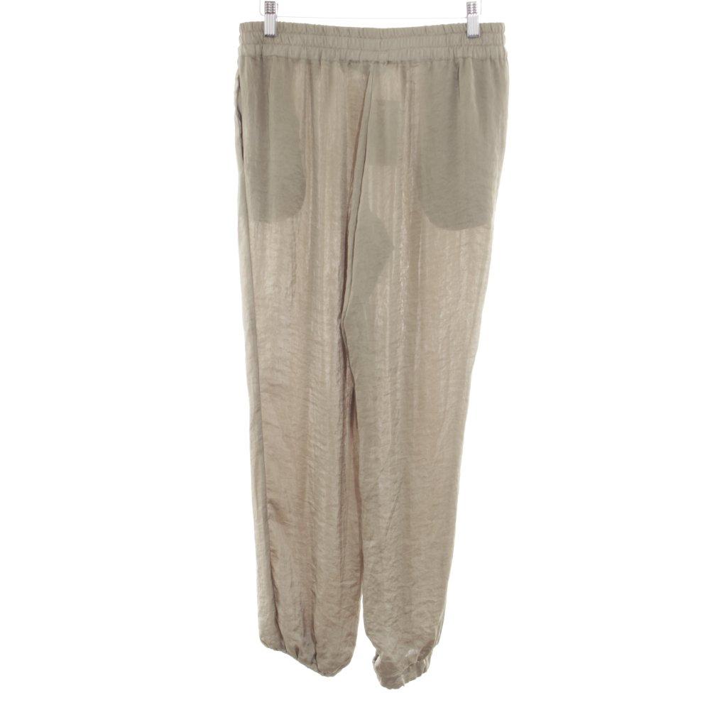Dettagli su ZARA TRAFALUC Pantalone alla turca bianco sporco stile casual Donna Taglia IT 42