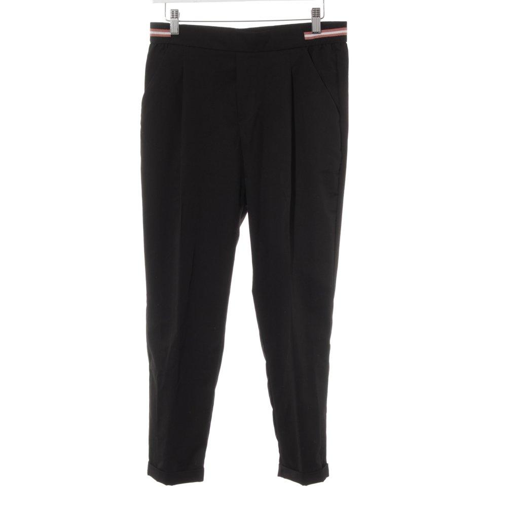 Dettagli su ZARA TRAFALUC Pantalone peg top nero stile casual Donna Taglia IT 42