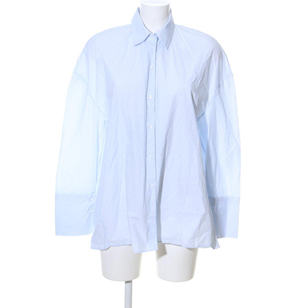 Detalles de ZARA TRAFALUC Blusa ancha azul estampado temático look casual Mujeres