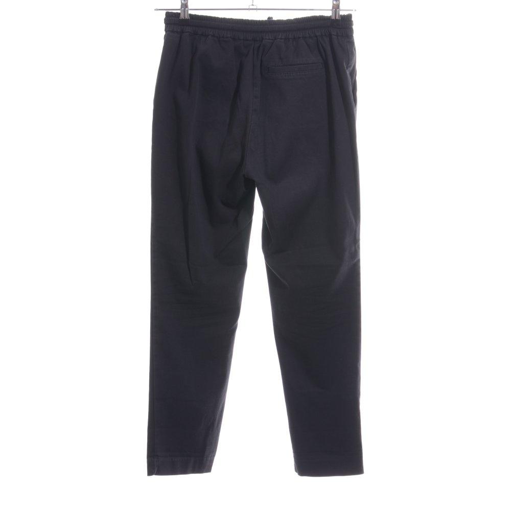 Dettagli su ZARA TRAFALUC Pantalone jersey nero stile casual Donna Taglia IT 42