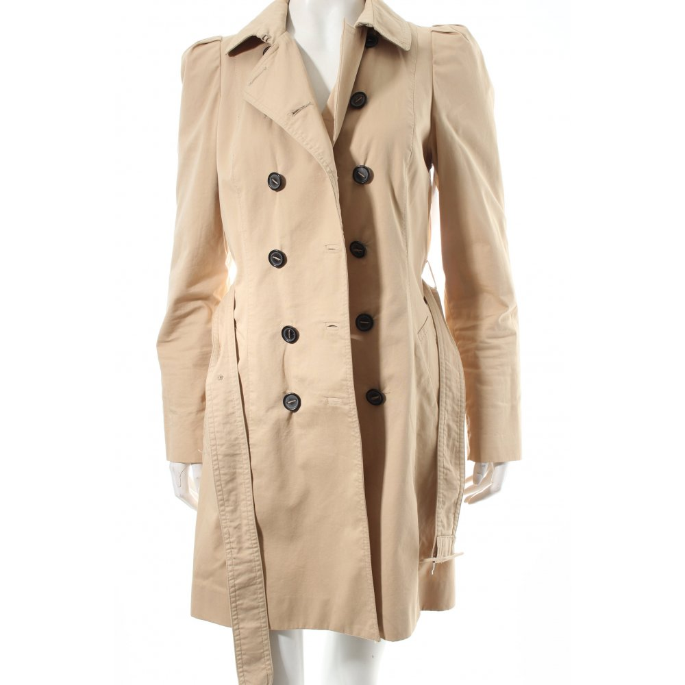 zara trench coat beige classic style women s size uk 10 ebay. Black Bedroom Furniture Sets. Home Design Ideas