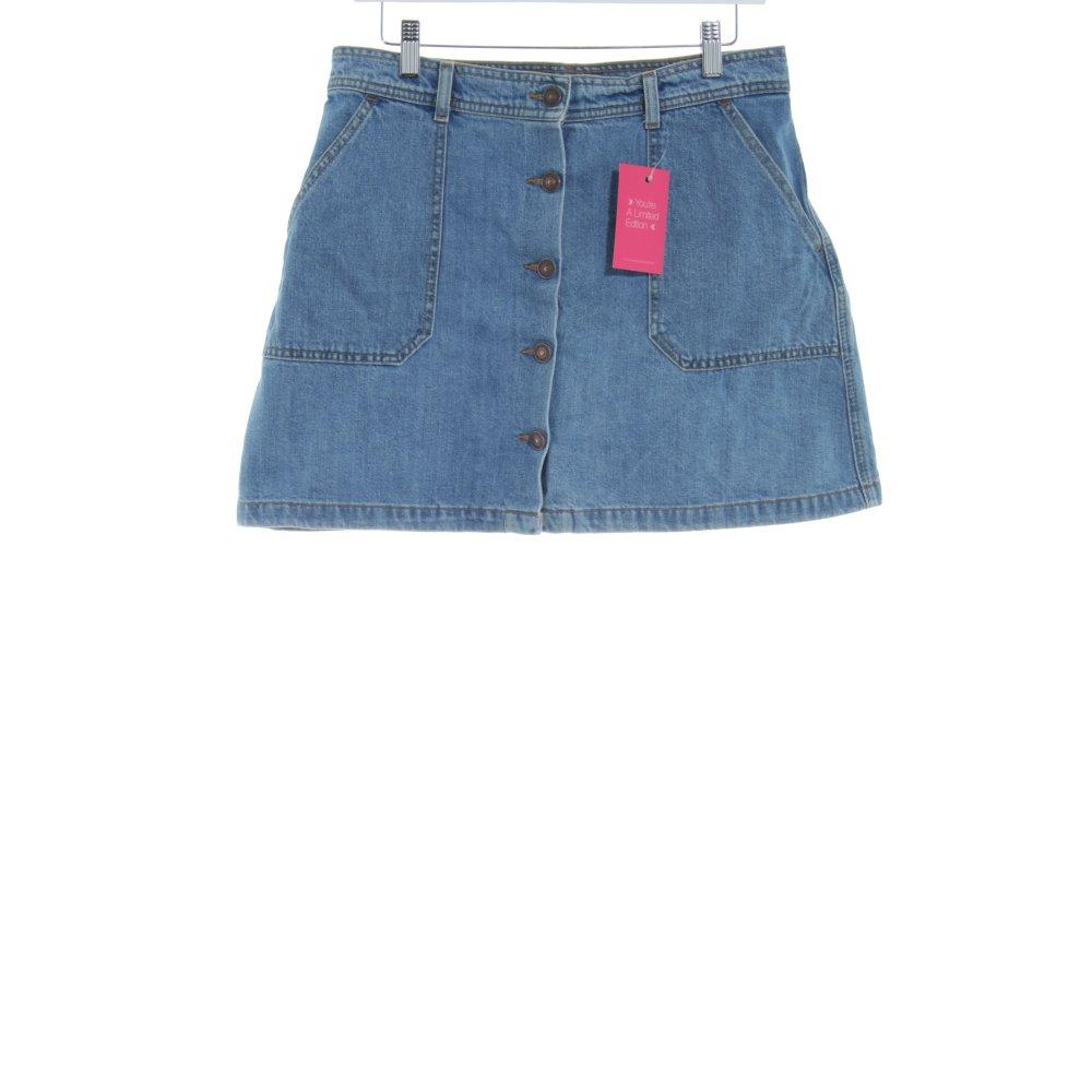 la meilleure attitude ee430 fbfe1 Détails sur ZARA WOMAN Jupe en jeans bleu clair style décontracté Dames T  42 coton