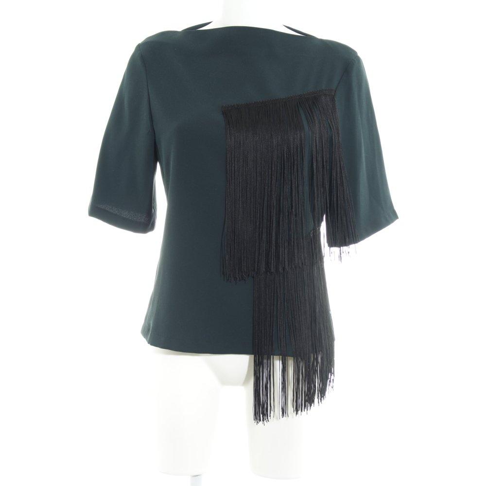 Dettagli su ZARA WOMAN Camicetta a maniche corte verde scuro stile casual Donna Taglia IT 40