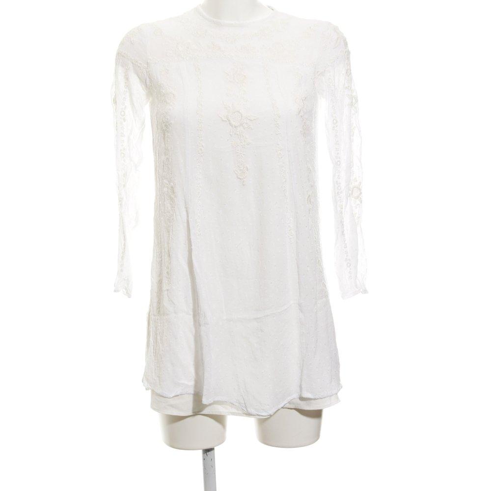 muchas opciones de online aquí diseño distintivo Detalles de ZARA WOMAN Blusa larga beige claro estampado floral look casual  Mujeres