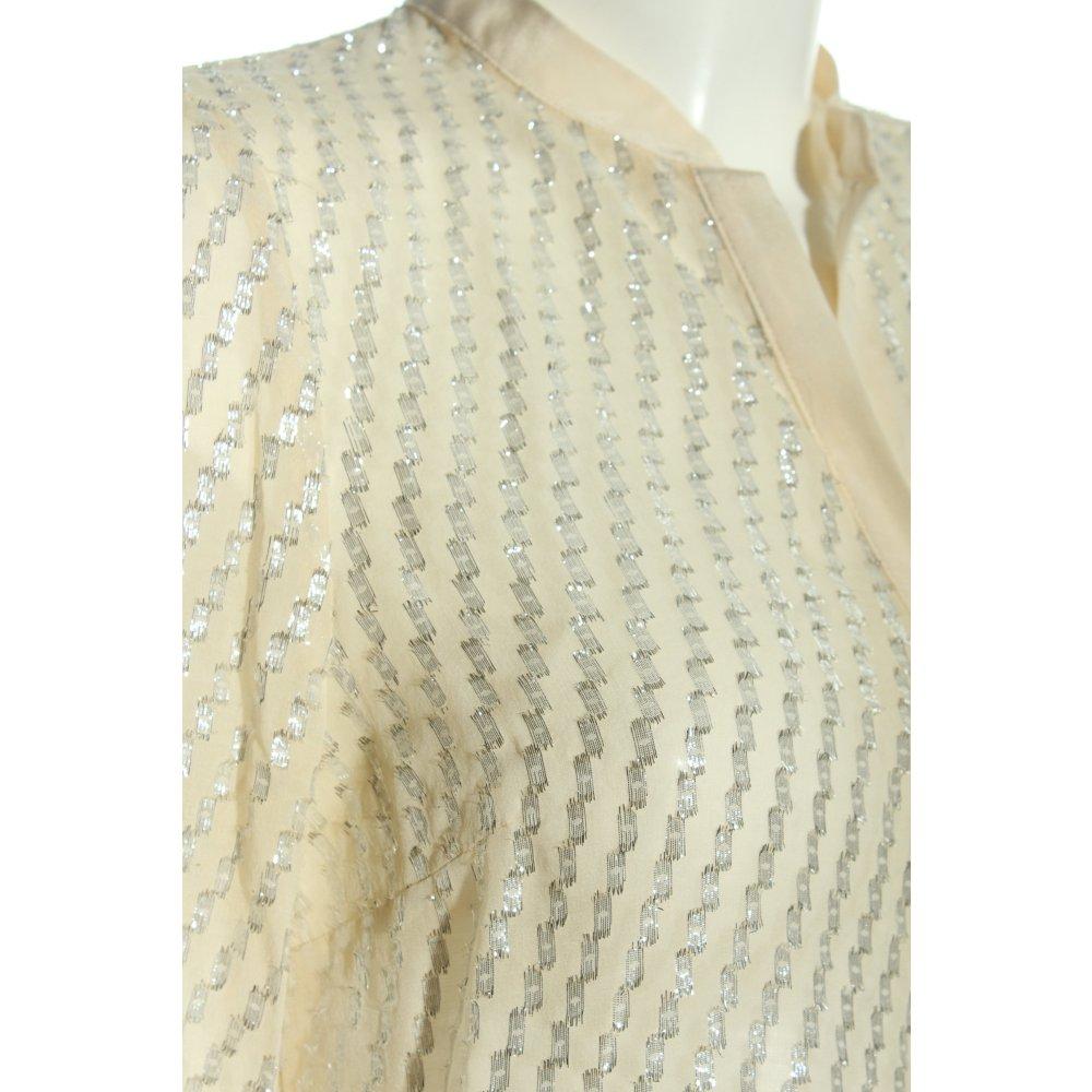 ZARA WOMAN Blusa transparente blanco puro color plata